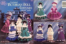 Crocheted Victorian Costumes for 15 Inch Dolls