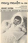 Mary Maxim Crochet Pattern No. 2258: Hooded Wrap and Sweater Set