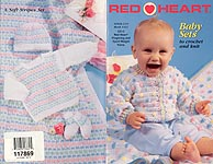 Red Heart Book No. 1423: Baby Sets to Crochet and Knit