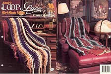 Annie's Loop-n-Lace Mile-A- Minute Afghan: Striped Tradition