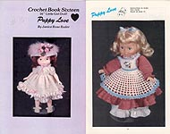 "Janice Rose Rader Crochet Book Sixteen: Puppy Love for a 16"" Little Girl Doll"
