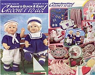 Sailor Outfits for 14 inch dolls, Annies Quick & Easy Crochet To Go #109