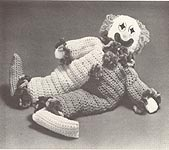 Aunt Mary's Patterns #2011: Crocheted Clancey Clown