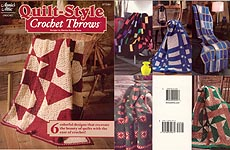Annie's Attic Quilt-Style Crochet Throws