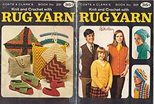 Coats & Clark Book No. 201: Knit and Crochet with Rug Yarn