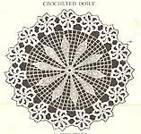 Crocheted Doily pattern sheet