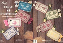 Lily Plenty of Placemats - Crochet & Cross Stitch
