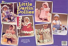 The Needlecraft Shop Little Darlin' Dollies wardrobe for 12 inch baby dolls.