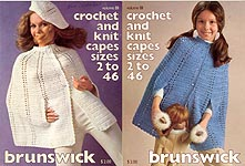 Brunswick Crochet and Knit Capes Sizes 2 to 46