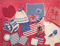 Herrschners The Pattern Library Volume 3, Book 20: 6 Patriotic Kitchen Sets Crochet