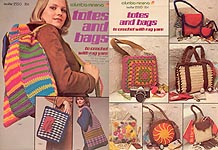 Columbia- Minerva Totes and Bags to Crochet with Rug Yarn