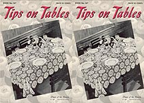 Coats & Clark's Book No. 167: Tips on Tables