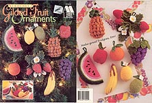 Annie's Attic Crochet Gilded Fruit Ornaments