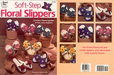 Annie's Attic reprint of Crochet Floral Slippers