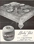 Lily Leaflet No. 99: Lovely Filet Tablecloth