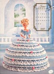 Annies Calendar Bed Doll Society, Cotilliion Collection, Miss June 1992