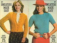 Coats & Clarks Book No. 288: Sweaters Made Easy