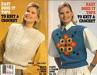 Coats & Clarks Book No. 321: Easy Does It Tops to Knit & Crochet
