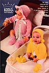 King Patterns No. 2050: CROCHETED Baby Sets