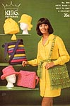 King Patterns No. 2051: Hats, Bags, &Belt to Knit & Crochet