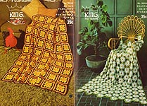 King Patterns No. 2024: Shasta Daisy Afghan & An Old Fashioned Afghan for Modern Times
