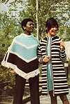 King Patterns No. 2089: Crocheted Coat and Poncho