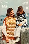 King Patterns No. 2090: Crocheted Poncho Capes