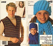 Crochet With Style from Simplicity #0412: Crochet for Beginners