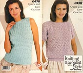 Knitting & Crochet With Style from Simplicity #0476: Quick and Easy Crochet