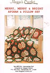 Maggie's Crochet Merry, Merry & Bright Afghan & Pillow Set