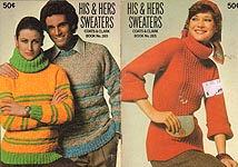 Coats & Clarks Book No. 265: His & Hers Sweaters