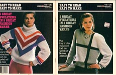 Coats & Clark Book No. 106: Easy To Read Easy To Make 5 Great Sweaters in 5 Great Fashion Yarns