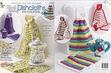 Annies Attic Crochet on the Double Handy Dandy Dishcloths, Soap Covers, & Towels