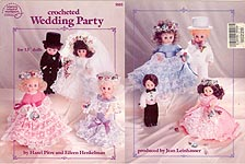ASN Crocheted Wedding Party for 13 inch dolls.