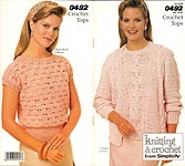 Crochet With Style from Simplicity #0492: Crochet Tops