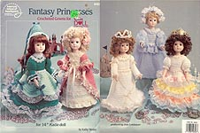Fantasy Princesses, five dresses for 14 inch Katie dolls