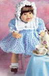 Syndee Doll Blue Dress, pattern only