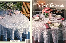 ASN Thread Crochet Oval Tablecloths