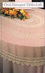 Annie's Attic Oval Banquet Tablecloth