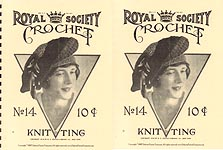 REPRODUCTION: Royal Society Crochet and Knitting Book No. 14