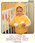 Annie's Attic CROCHET Li'l Chick Sweater Set