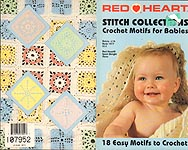 Red Heart Book No. 1417: Stitch Collections Crochet Motifs for Babies