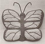 Shady Lane Crochet Butterfly- Shaped Pillow