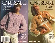 Coats & Clark Book No. 324: Caressable Sweaters TO Knit & Crochet