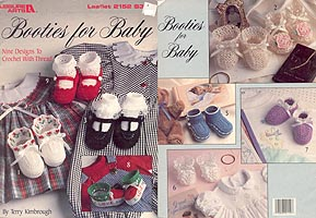 Leisure Arts Booties for Baby