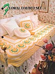 Annie's Crochet Quilt & Afghan Club Floral Daybed Set