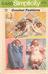 Simplicity paper pattern for crocheted baby layette, dated 1972