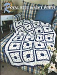 Annie's Crochet Quilt & Afghan Club Royal Blue & Soft White