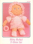 Annie's Attic crocheted soft sculpture Bitty Baby T-Shirt Set