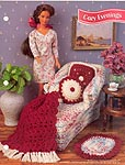 Annies Fashion Doll Crochet Club: Cozy Evenings Chaise Lounge, Pillows, & Afghan